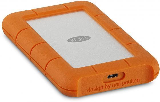 Внешний жесткий диск 2.5 USB-C 4Tb Lacie Rugged Mini STFR4000800 оранжевый lacie rugged mini 2tb внешний жесткий диск