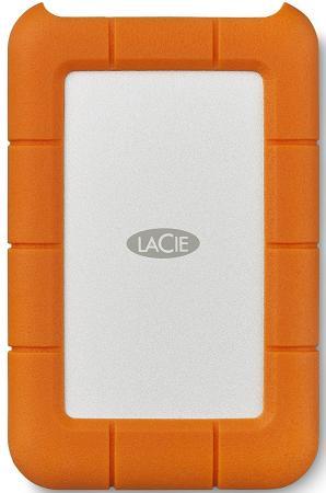 Внешний жесткий диск 2.5 USB-C 1Tb Lacie Rugged Mini STFR1000800 оранжевый внешний жесткий диск 2 5 usb3 0 1tb lacie mirror 9000574 серебристый