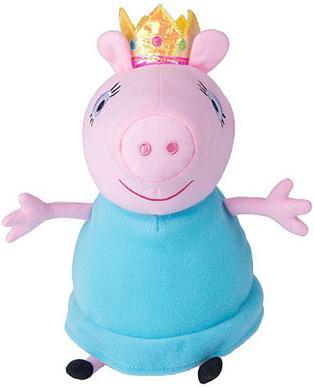 Мягкая игрушка свинка Peppa Pig Мама Свинка королева 30 см розовый голубой текстиль плюш 31153 мягкая игрушка peppa pig джордж с машинкой свинка розовый текстиль 18 см 29620