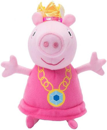 Мягкая игрушка свинка Peppa Pig Пеппа-принцесса 20 см розовый плюш  31151