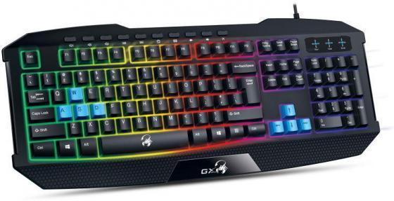 Клавиатура проводная Genius Scorpion K215 USB черный клавиатура genius scorpion k9 usb black