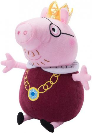 Мягкая игрушка свинка Peppa Pig Папа Свин король 30 см розовый текстиль плюш peppa pig транспорт 01565