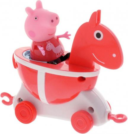 Игровой набор Peppa Pig Каталка Лошадка с фигуркой 2 предмета peppa pig playing football
