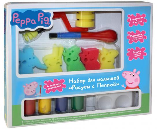 Набор для рисования Peppa Pig Свинка Пеппа - Рисуем с Пеппой от 3 лет 31072 peppa pig набор толстых восковых карандашей свинка пеппа 8 цветов