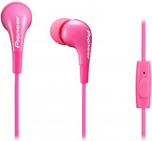 Гарнитура Pioneer SE-CL502T-P розовый гарнитура pioneer se cl502t k вкладыши черный проводные