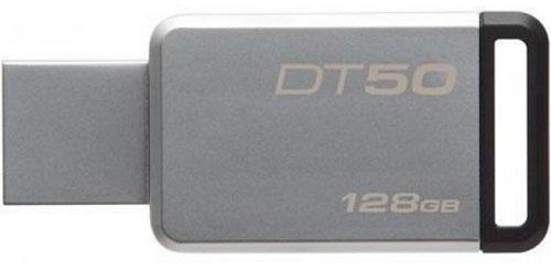 Флешка USB 128Gb Kingston DataTraveler 50 DT50/128GB серебристо-черный флешка usb 128gb kingston datatraveler se9 g2 dtse9g2 128gb серебристый
