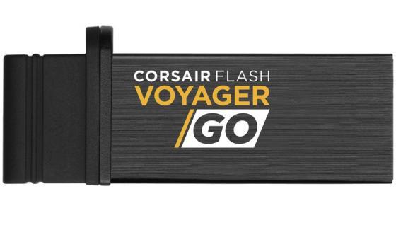 Флешка USB 128Gb Corsair Voyager GO CMFVG-128GB черный флешка usb 128gb corsair voyager slider x2 cmfsl3x2 128gb черно голубой
