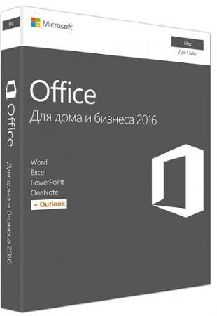 цена на Офисное приложение MS Office MAC Home and Business 2016 Rus Only Medialess No Skype P2 W6F-00820