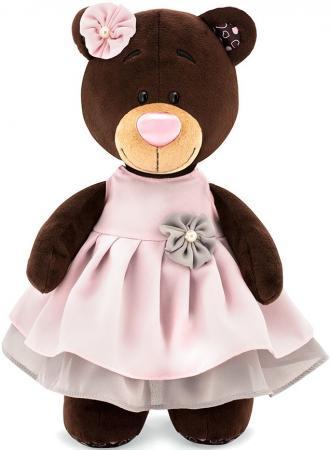 Мягкая игрушка медведь ORANGE Milk в бальном платье 30 см коричневый текстиль искусственный мех orange медведь девочка milk с сердцем 25 см