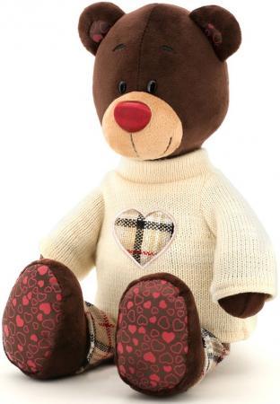 Мягкая игрушка медведь ORANGE Choco  свитере 25 см коричневый искусственный мех текстиль С5058/