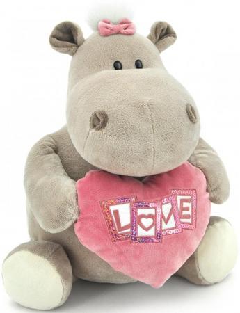 Мягкая игрушка бегемотик ORANGE Девочка с сердцем 30 см серый плюш  OS090/30B orange змей луи 30 см 2017 30