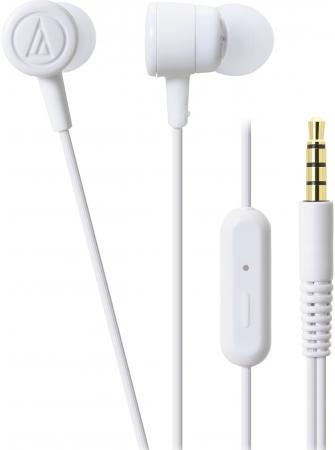 Гарнитура Audio-Technica ATH-CKL220iS WH белый technica audio technica ath ckr30is провод уха телефон гарнитура с пшеницей золота