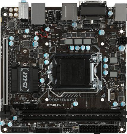 Материнская плата MSI B250I PRO Socket 1151 B250 2xDDR4 1xPCI-E 16x 4xSATAIII mini-ITX Retail ноутбук msi gs43vr 7re 094ru phantom pro 9s7 14a332 094
