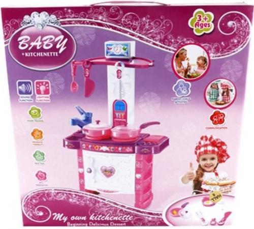 Игровой набор Shantou Gepai Детская кухня с посудой 3396 кухня shantou gepai как у мамы голубая