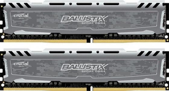 Оперативная память 16Gb (2x8Gb) PC4-19200 2400MHz DDR4 DIMM Crucial BLS2C8G4D240FSBK оперативная память 16gb 2x8gb pc4 19200 2400mhz ddr4 dimm corsair cmk16gx4m2z2400c16