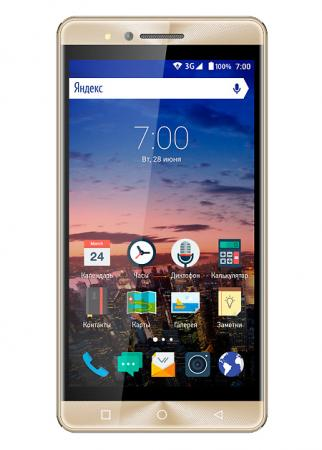 Смартфон Vertex Impress Open золотистый 5 8 Гб Wi-Fi GPS 3G VOPNGLD мобильный телефон impress open gold vopngld vertex