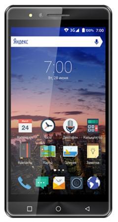 Смартфон Vertex Impress Open графитовый 5 8 Гб Wi-Fi GPS 3G VOPNGRP смартфон vertex impress groove gold