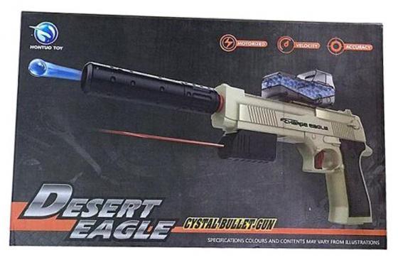 Пистолет Shantou Gepai Desert Eagle серый прицел, гелевые пули, USB зарядка 635448