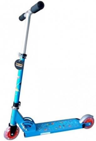 Самокат двухколёсный X-Match Cute синий  64989 самокат трехколёсный x match скутер голубой 125 мм pvc светящ 100% легкосплавн 64459
