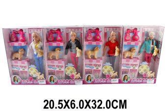 Кукла Shantou Gepai с любимым питомцем, аксесс., в ассорт., кор. shantou gepai игрушка пластм палочка свет 32 см в ассорт shantou gepai