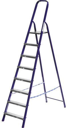 Лестница-стремянка Сибин стальная 8 ступеней 38803-08 лестница стремянка сибин
