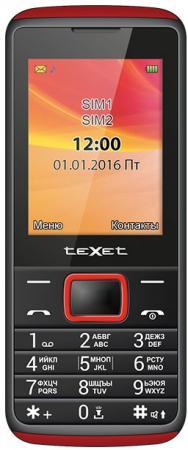 Мобильный телефон Texet TM-214 красный черный 2.4 texet tm b216 красный мобильный телефон