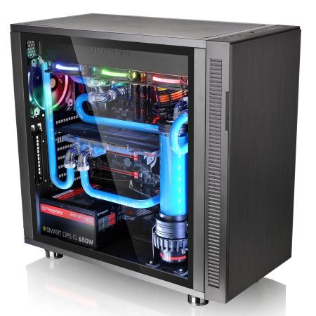 Корпус ATX Thermaltake Suppressor F31 TG Без БП чёрный CA-1E3-00M1WN-03 корпус thermaltake suppressor f51 black w o psu window ca 1e1 00m1wn 02