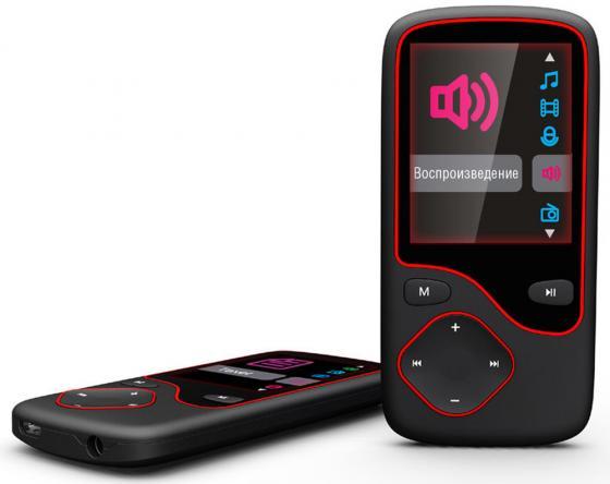 Плеер Digma Cyber 3L 4Gb черный/красный плеер digma cyber 3l 4gb black red