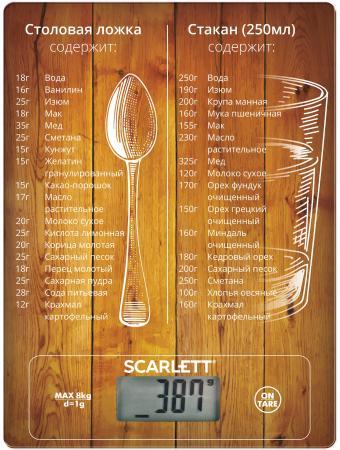 Весы кухонные Scarlett SC-KS57P19 коричневый цена и фото