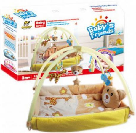 цена Развивающий коврик Shantou Gepai Медвежонок с бортами, коробка BY-A63