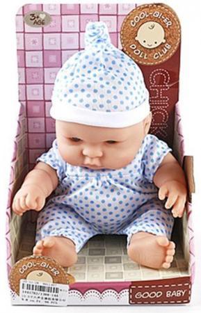 Кукла-младенец Shantou Gepai Пупс Good Baby в костюмчике в горошек 25 см со звуком кукла shantou gepai с коляской cs5832ha