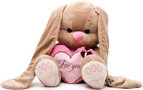 Мягкая игрушка заяц Jack Lin Зайка Лин с сердцем 50 см розовый полиэстер пластик искусственный мех JL-001-50 футболка lin show 367