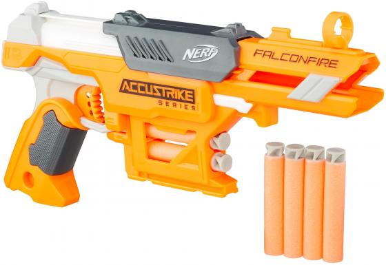Бластер Hasbro NERF N-Strike Elite AccuStrike - FalconFire оранжевый белый серый new dual tens machine digital low frequency therapeutic electrical muscle stimulator tens stimulator with lcd backlight screen