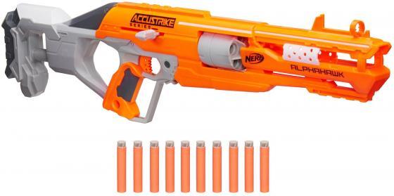 Бластер Hasbro NERF N-Strike Elite AccuStrike - AlphaHawk оранжевый серый
