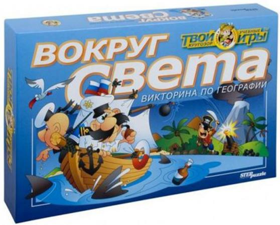 Настольная игра развивающая Step Puzzle Викторина Вокруг света 76401 настольная игра step puzzle за грибами