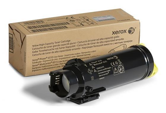 Картридж Xerox 106R03483 для Phaser 6510/WC 6515 желтый 1000стр картридж xerox 106r03487 для phaser 6510 wc 6515 желтый 2400стр