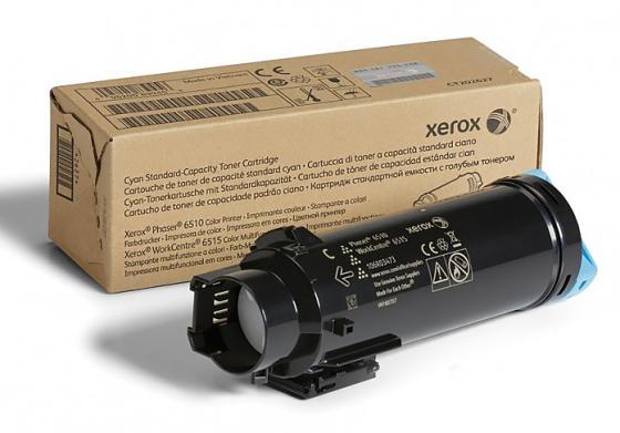 Картридж Xerox 106R03481 для Phaser 6510/WC 6515 голубой 1000стр картридж xerox 106r03694 для phaser 6510 wc 6515 пурпурный 4300стр
