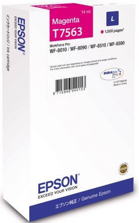 Картридж Epson C13T756340 для Epson WF-8090/8590 пурпурный картридж epson t009402 для epson st photo 900 1270 1290 color 2 pack