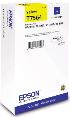 цена на Картридж Epson C13T756440 для Epson WorkForce Pro WF-8090DW WorkForce Pro WF-8590DWF желтый