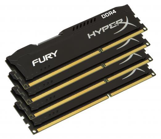 Оперативная память 64Gb (4x16Gb) PC4-17000 2133MHz DDR4 DIMM CL14 Kingston HX421C14FBK4/64 память ddr4 kingston kvr21r15s8k4 16 4х4gb dimm ecc reg pc4 17000 cl15 2133mhz