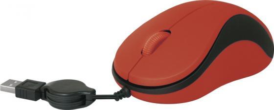 Мышь проводная Defender MS-960 красный USB 52961 микрофон беспроводной defender mic 140