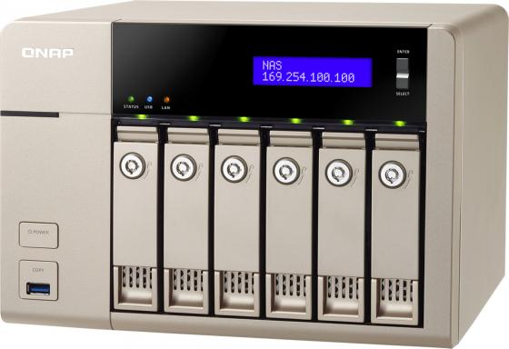 Сетевое хранилище QNAP TVS-663-8G сетевое хранилище qnap tvs 863 16g intel 2 0ггц 8x2 5 3 5hdd hot swap raid 0 1 5 6 10 2xgblan 5xusb hdmi