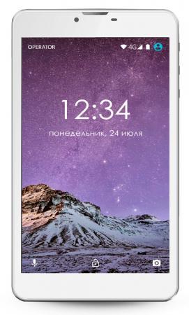 Планшет GINZZU GT-7105 7 8Gb серебристый Wi-Fi 3G Bluetooth Android GT-7105 Silver планшет ginzzu gt 7105 золотистый