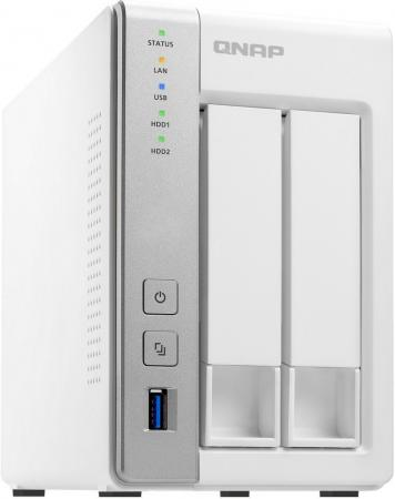 Сетевое хранилище QNAP TS-231P сетевое хранилище qnap ts 451 2g 4 отсека для жестких дисков