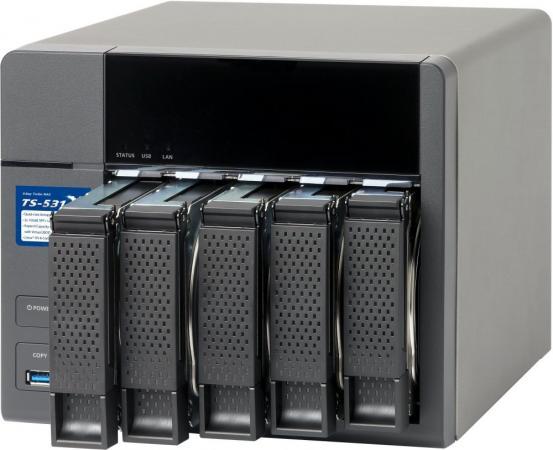 Сетевое хранилище QNAP TS-531X-2G рэковое сетевое хранилище rack nas qnap ts 531x 2g ts 531x 2g