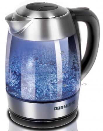Чайник Redmond RK-G168-E 2200 Вт серебристый 1.7 л пластик/стекло redmond skycoffee rcm m1505s e кофеварка