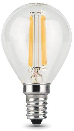 Лампа светодиодная шар Gauss 105801105 E14 5W 2700K gauss лампа светодиодная gauss шар матовый e14 8w 2700k 53118