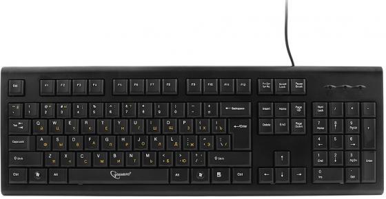 Клавиатура проводная Gembird KB-8353U-BL USB черный клавиатура проводная gembird kb 8335um bl usb