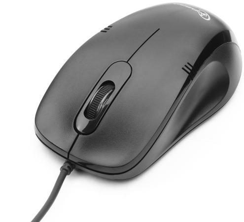 Мышь проводная Gembird MOP-100 чёрный USB