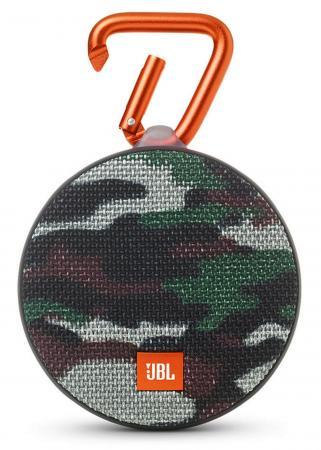 Акустическая система JBL Clip 2 камуфляж JBLCLIP2SQUAD jbl jblclipplusgray clip plus gray